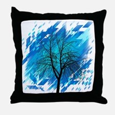 Abstract Tree Silhouette Throw Pillow