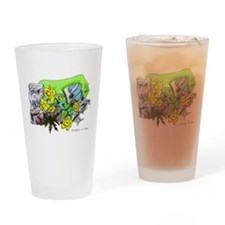 Dragons Crystal Garden Fantasy Art Drinking Glass