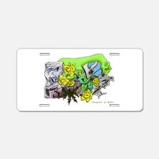 Dragons Crystal Garden Fant Aluminum License Plate