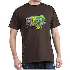 Dragons Crystal Garden Fantasy Art T-Shirt