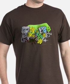 Dragons Crystal Garden Fantasy Art T-Shirt