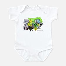 Dragons Crystal Garden Fantasy Art Infant Bodysuit