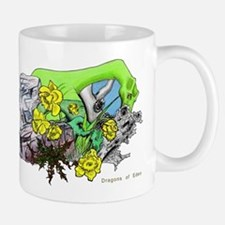 Dragons Crystal Garden Fantasy Art Mug