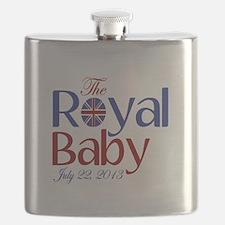 The Royal Baby Birthdate Souvenir Flask
