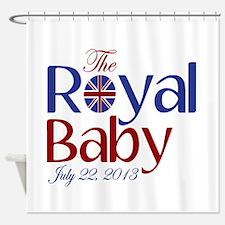 The Royal Baby Birthdate Souvenir Shower Curtain