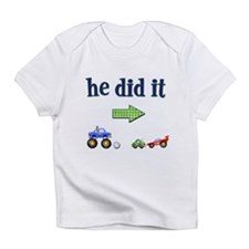 Cute Baby twins she did it Infant T-Shirt