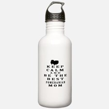 Keep Calm Pomeranian Designs Water Bottle