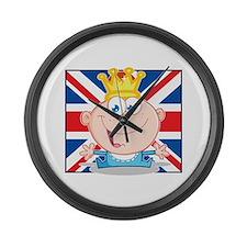 Royal Baby Boy Large Wall Clock