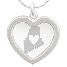 Heart Maine Silver Heart Necklace