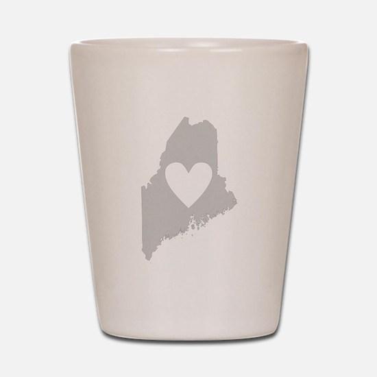 Heart Maine Shot Glass