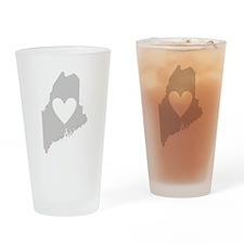 Heart Maine Drinking Glass