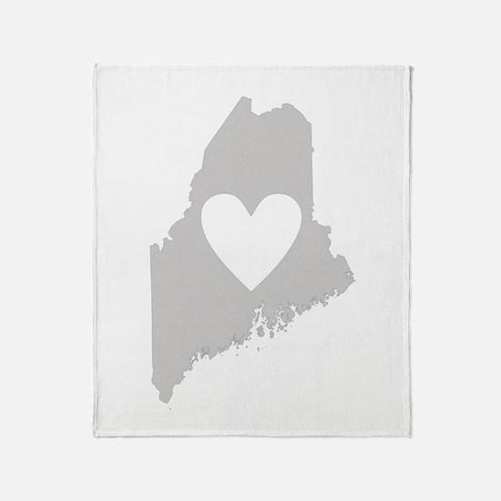 Heart Maine Throw Blanket