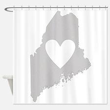 Heart Maine Shower Curtain