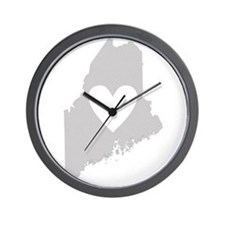 Heart Maine Wall Clock