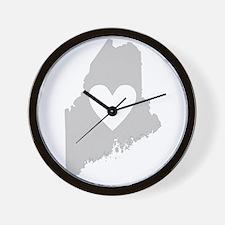 Heart Maine Wall Clock