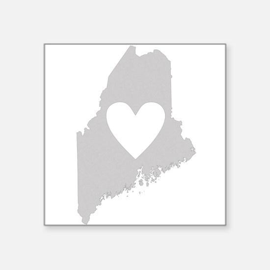 """Heart Maine Square Sticker 3"""" x 3"""""""