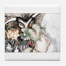 Nephilim Dragon Fantasy Art Tile Coaster
