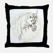Unicorn Mischief Throw Pillow