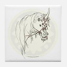 Unicorn Mischief Tile Coaster