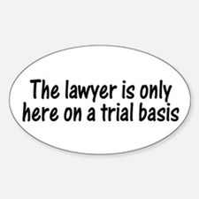 Trial Basis Oval Decal