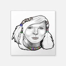 """Maiden Snow Bird Square Sticker 3"""" x 3"""""""