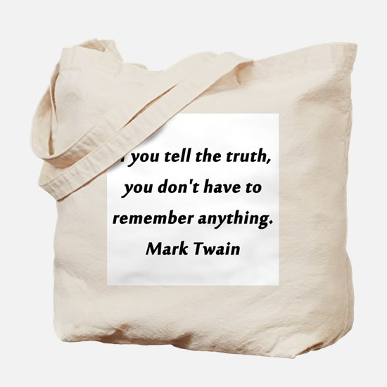 Twain On Truth Tote Bag