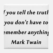Twain On Truth Tile Coaster