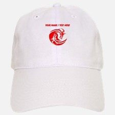 Custom Red And White Yin Yang Dragons Baseball Baseball Baseball Cap