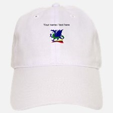 Custom Blue And Green Dragon Baseball Baseball Baseball Cap