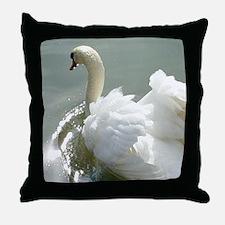 Beautiful white swan Throw Pillow