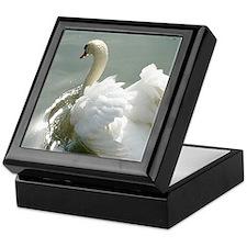 Beautiful white swan Keepsake Box