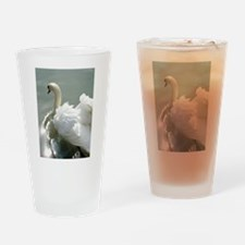 Beautiful white swan Drinking Glass