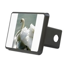 Beautiful white swan Hitch Cover