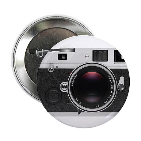"""Retro Style Camera 2.25"""" Button"""