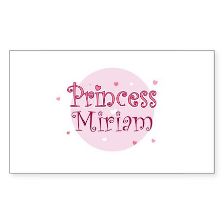Miriam Rectangle Sticker