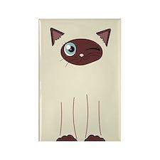 Cute Winking Cat Cartoon, Siamese Markings Rectang