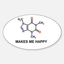 Caffeine Molecule Makes Me Happy Decal