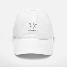Caffeine Molecule Makes Me Happy Baseball Baseball Baseball Cap