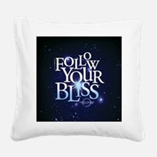 Follow Your Bliss Starry Square Canvas Pillow