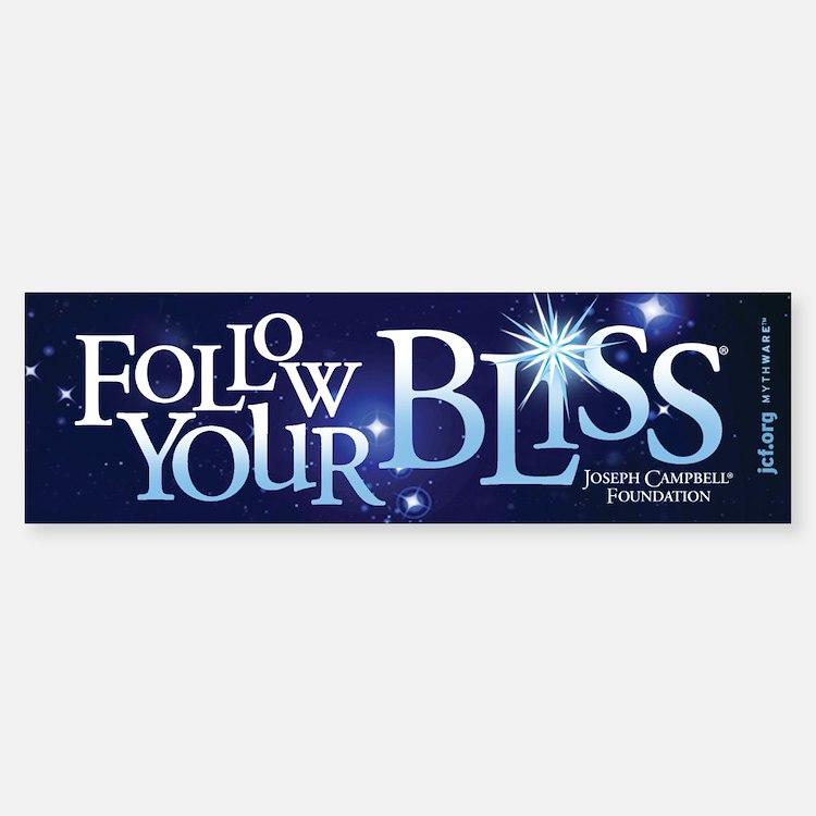 Follow Your Bliss Starry Bumper Bumper Bumper Sticker