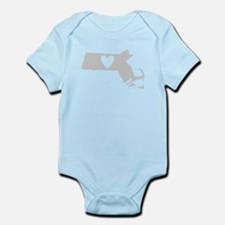 Heart Massachusetts Infant Bodysuit