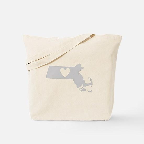 Heart Massachusetts Tote Bag