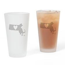 Heart Massachusetts Drinking Glass
