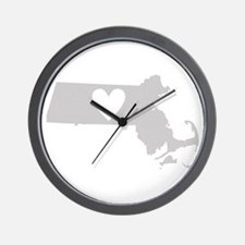 Heart Massachusetts Wall Clock