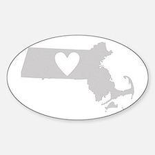 Heart Massachusetts Decal