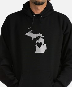 Heart Michigan Hoodie (dark)