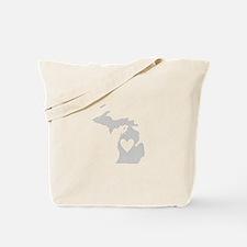 Heart Michigan Tote Bag