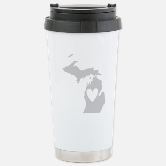 Heart Michigan Stainless Steel Travel Mug