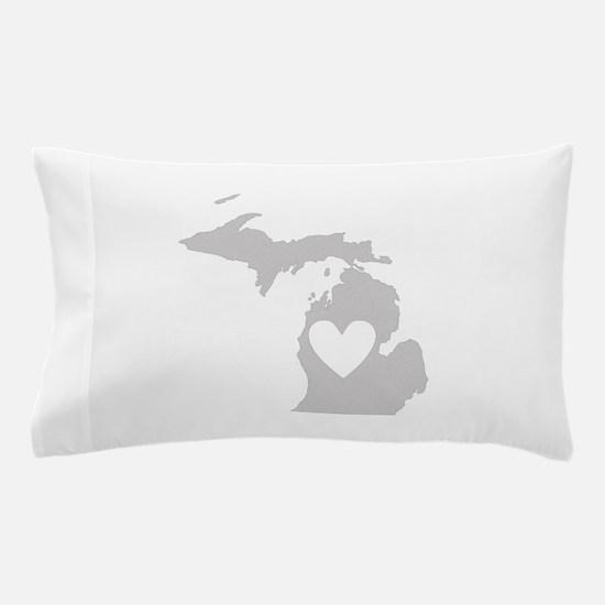 Heart Michigan Pillow Case