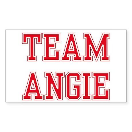 TEAM ANGIE Rectangle Sticker
